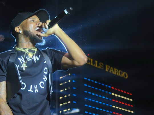 Canadian rapper and singer Tory Lanez performs during