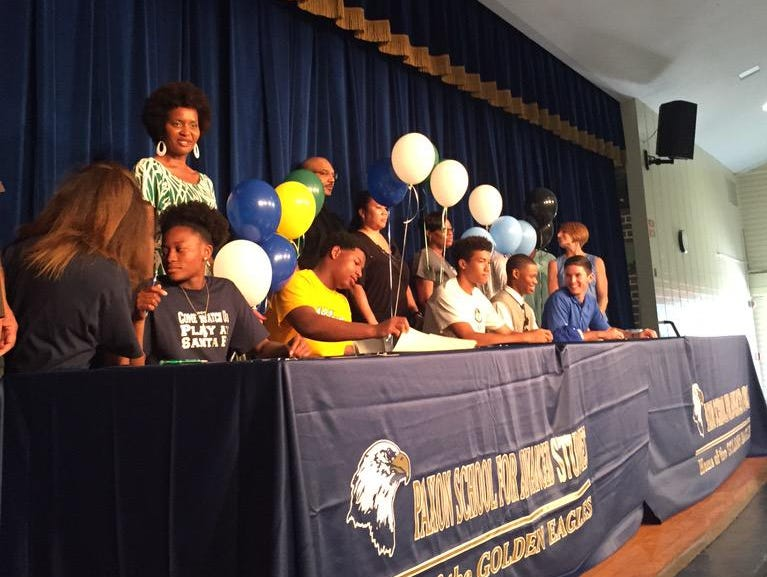 Paxon High School held a ceremony Thursday, celebrating six student athletes who signed letters of intent to play their respective sports in college while furthering their education.