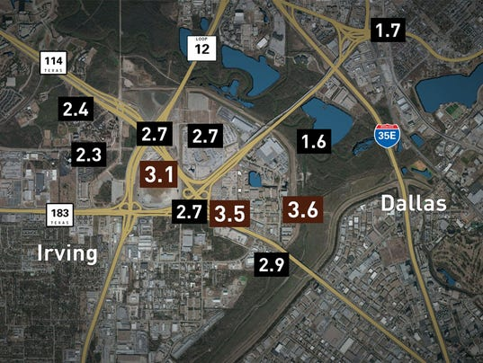 Image result for 3.1 magnitude earthquake recorded in Irving, near old Texas Stadium site