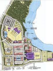Map of $150 million-plus, mixed-use Cross Bayou project