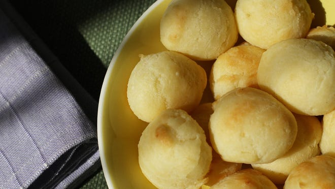 Gluten-free cheese puffs are made with tapioca flour.