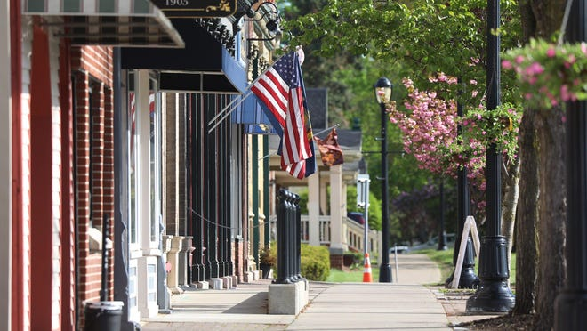 Genesee Street on Wednesday, May 20, 2020 is part of the downtown area of Avon, Livingston County.
