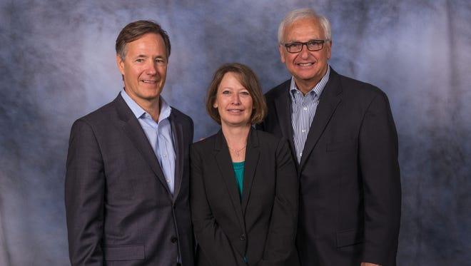 Vision Associates top executive team is, left to right, Kurt Behrle, co-founding principal; Mary Walker, executive director, and Joseph Casorio, also a co-founding principal.