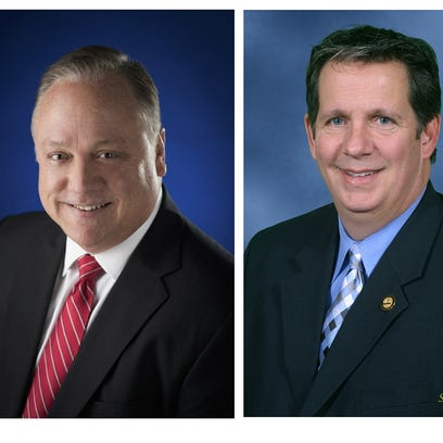 Dee Stanley and Joel Robideaux, candidates for Lafayette