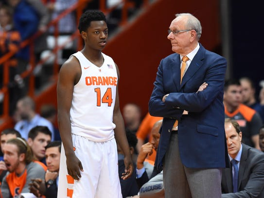 Syracuse coach Jim Boeheim returns from his NCAA suspension