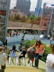 Children playing in Chicago's Maggie Daley Park during