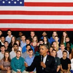 President Barack Obama speaks about affordable college education during a town hall meeting at Binghamton University, Friday, Aug. 23, 2013, in Vestal, N.Y. Obama is on a the second day of his two-day bus tour in upstate New York and Pennsylvania. (AP Photo/Mike Groll)