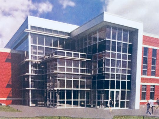This rendering shows what the third Motlow State Community College building at the Smyrna campus will resemble.