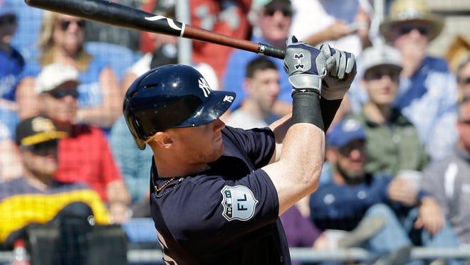 Clint Frazier hitting a home run against the Blue Jays last week.