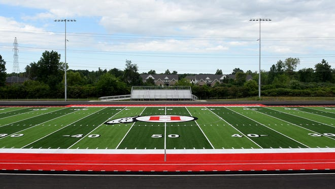 New Boston Huron will play the first football game on its new turf field Friday night.
