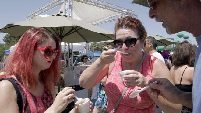 Tasting chili is a big part of the annual Rotary Club of Thousand Oaks Chili Cook-off and Classic Car Show.