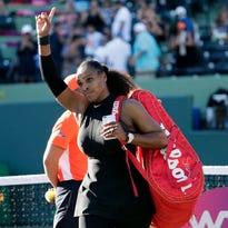 Serena Williams falls to Naomi Osaka in the first round at Miami Open