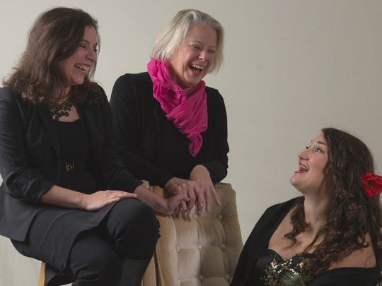 """Diana Black, Jennifer Kirkland and Liz Leone perform in the new cabaret show """"Songs of Ourselves"""" at Ox-Eye Tasting Room in Staunton on Jan 21-22. All proceeds benefit Cat's Cradle animal shelter in Harrisonburg."""