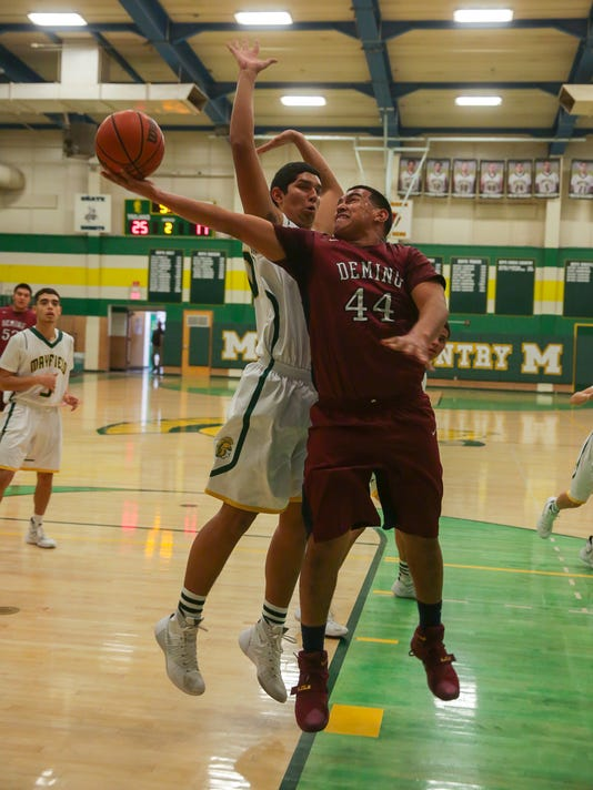 Mayfield vs Deming Boys Prep Basketball