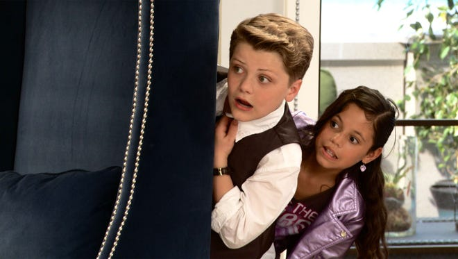Jake Brennan (Richie Rich) and Jenna Ortega (Darcy) in 'Richie Rich.'