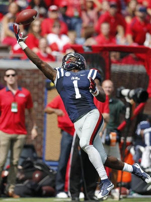 Mississippi wide receiver Laquon Treadwell could be a first-round option for the Lions at pick No. 16 of round one. As a junior last season, the six-foot-two, 210-pound Treadwell caught 11 TDs.