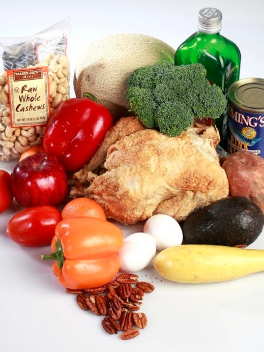 Nuts, fruits and vegetables, meat, seafood and healthy oils are all part of the Whole30 diet, which is a 30-day