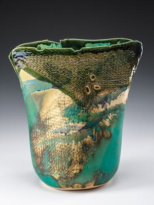 Lisa Kurtz's clay Hydrangea Vase.