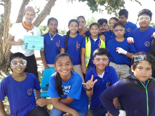 M.U. Lujan Elementary School fifth grade students in