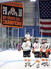 Mamaroneck unveiling its state championship banner