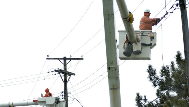 Power outages are being reported across the Thumb.