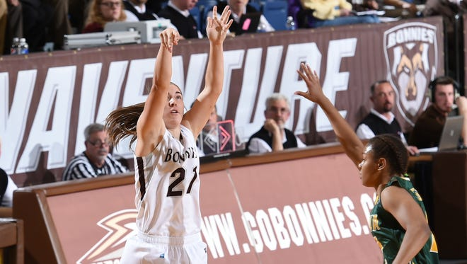 Nyla Rueter, a Hagerstown graduate, recently went past 1,000 points for her Division I women's basketball career at St. Bonaventure.