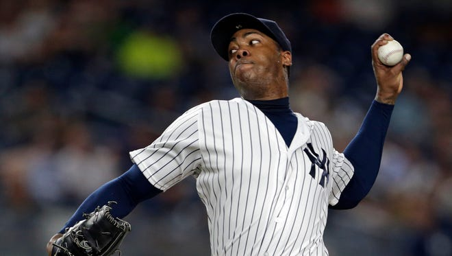 Aroldis Chapman saved 20 games for the Yankees this season.