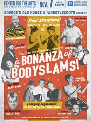 "Olde Wrestling's ""A Bonzanza of Bodyslams"" brings vaudeville"