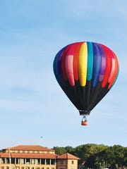 Hot air ballooning is a fun way to see beautiful views