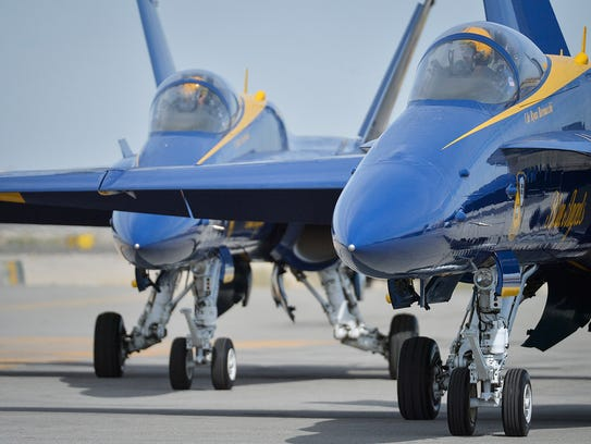 The F/A-18 Hornet the Blue Angels fly can reach speeds