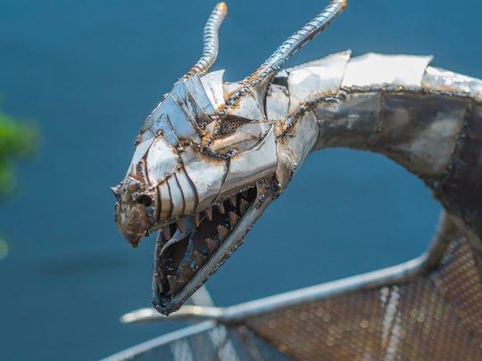This menacing creature was on display at ScrapFest