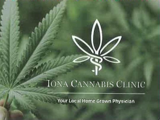 The new business card for Dr. Gregory Sonn, who operates the Iona Cannabis Clinic in Lee County.