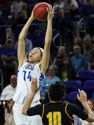 FGCU's Whitney Knight surpassed the 1,000-point plateau Saturday night.