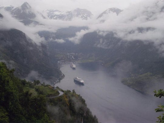 The Carlson's Hurtigruten ship was built to carry just 500 passengers, allowing it to navigate the narrow fjords where it made stops at 35 ports, delivered mail and picked up and dropped off local passengers