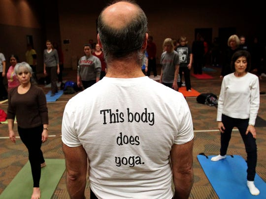 """""""I feel I have a lot to offer, especially for older beginners — guys who feel they are inflexible, and unable to do something like yoga for better health and a more peaceful mind,"""" says instructor Steven Russell."""