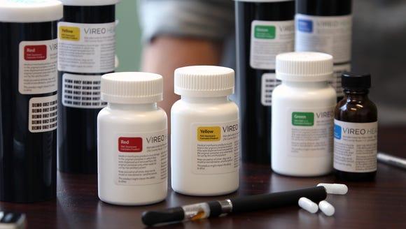 Various forms of medical marijuana at the Vireo Health