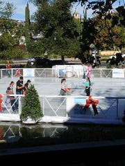 The Lakes hosts ice skating through January.