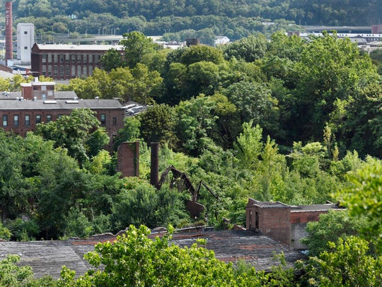 Ruins of industrial buildings within the borders of