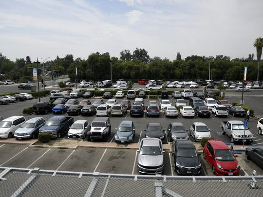 A view of the Kaweah Delta Medical Center parking lot