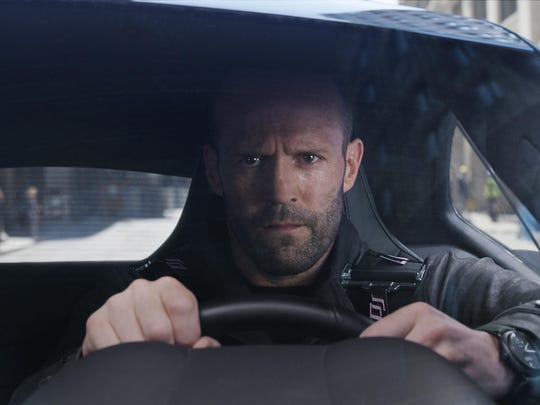"Jason Statham stars as Deckard Shaw in ""The Fate of the Furious."""
