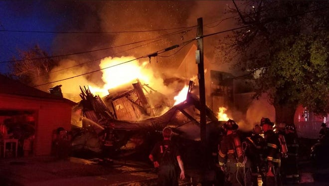 A large fire destroyed a south side home on Terrace Avenue early Sunday.