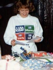 Who's that rockin' a perm and USA Today sweatshirt? Why, it's Momsense columnist Sara Paulson, circa 1986.