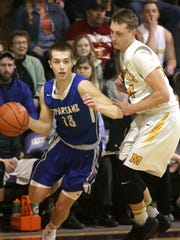 St. Peter's Jared Jakubick drives around a Monroeville