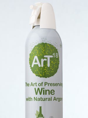ArT Wine Preservation is designed to keep wine fresh. Users spray the can, which is filled with argon, into their opened bottles of wine to preserve the taste for up to weeks after opening.