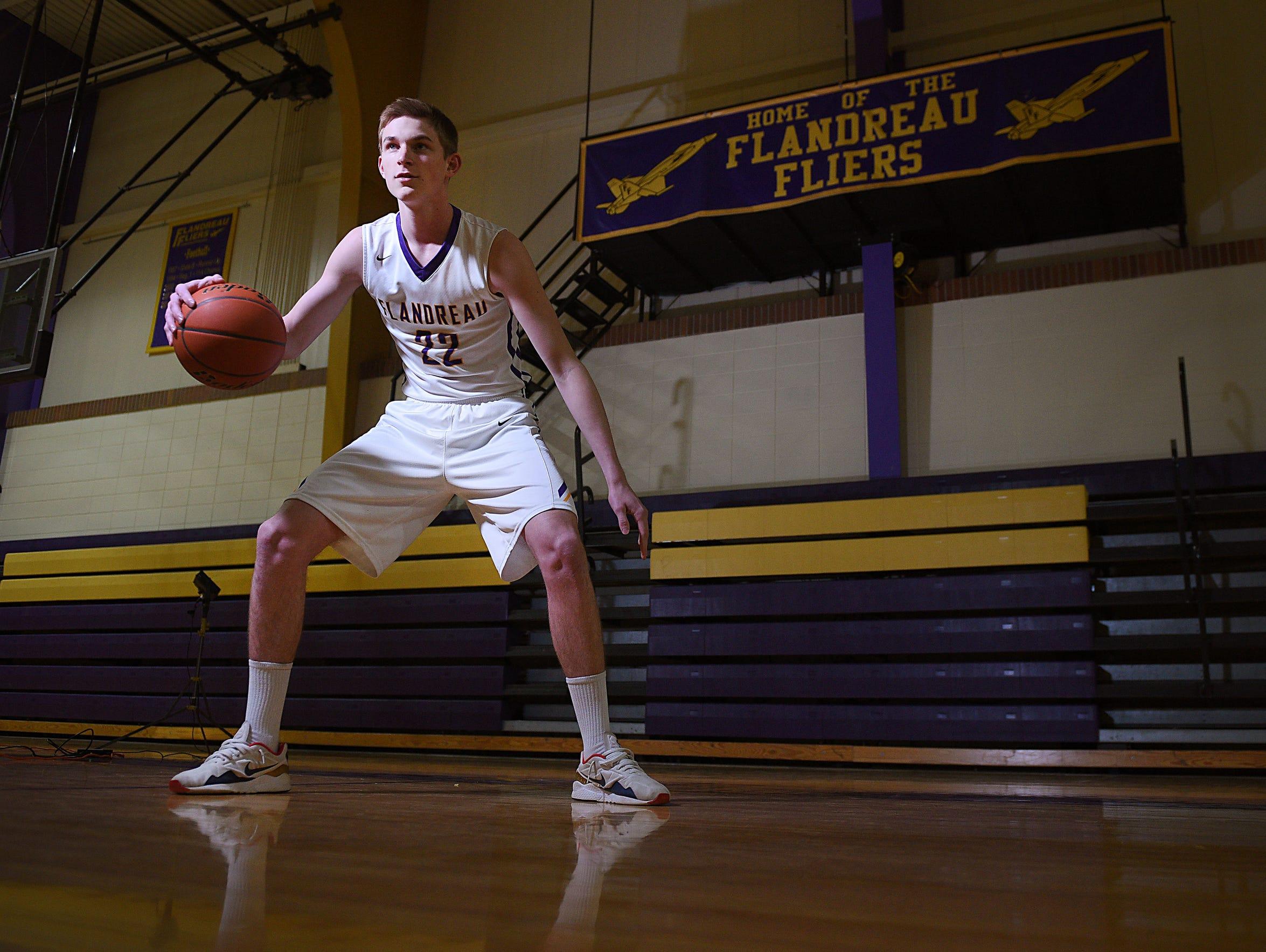 Flandreau High School senior Dylan LeBrun, a First