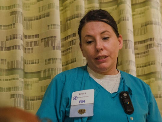 A nurse in the inpatient surgery area at Reid Health