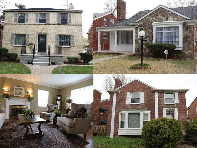 detroit neighborhood showcases homes for sale