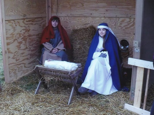 A living nativity scene is part of Christ Lutheran
