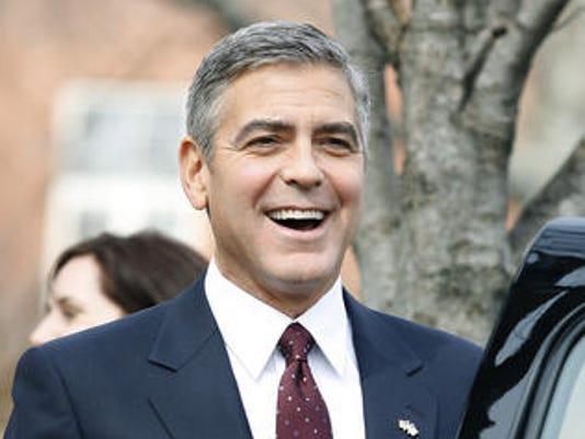 George Clooney Ides Miami smiling 3.3.11