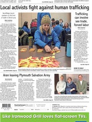 Sunday's front page piece on sex trafficking is a story